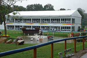 Equestrian at the 2008 Summer Olympics - A spectator area and water jump in the eventing portion of the Games
