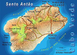 Santo Antão, Cape Verde Westernmost and largest of the Barlavento islands of Cape Verde