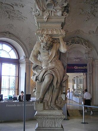 Lorenzo Mattielli - Atlas in the Upper Belvedere, Vienna