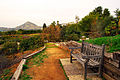 Bench view, UCR Botanic Garden.jpg