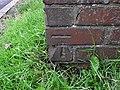 Benchmark on the letterbox pillar - geograph.org.uk - 2515339.jpg