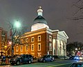 Beneficent Congregational Church, Providence at night.jpg
