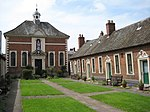 Berkeley's Hospital: Almshouses with Gate lodges, Piers and Gates