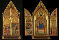 Bernardo Daddi Triptych, The Virgin and Child Enthroned with Saints, 1338 composite.jpg