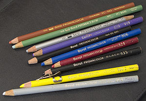 Colored pencils manufactured by Berol. This im...