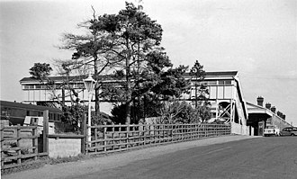Bicester North railway station - Station entrance in 1961
