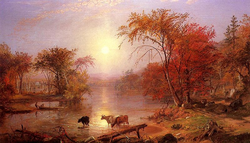 File:Bierstadt Albert Indian Summer Hudson River.jpg