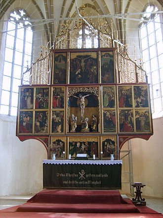 Biertan fortified church - Altar with polyptych