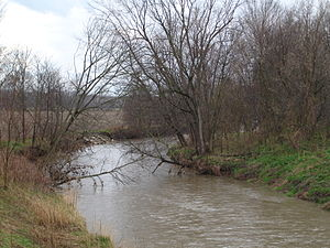 Big Blue River (Indiana) - The Big Blue River in Henry County, southwest of New Castle.