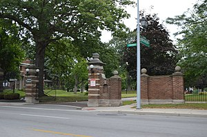 National Register of Historic Places listings in Lucas County, Ohio - Image: Birckhead Place gateway