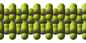 Bismuth pentafluoride - Image: Bismuth pentafluoride chains from xtal 1971 3D SF