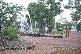 Blackboy Hill, Western Australia - Image: Blackboy Hill Anzac Day 2010flowers