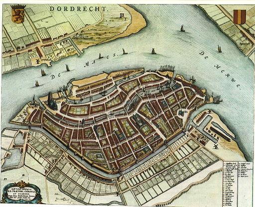 Blaeu 1652 - Dordrecht