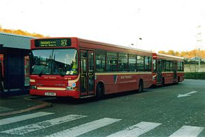 Blue Triangle - Two Blue Triangle Dennis Dart SLFs on route 372 at Lakeside Shopping Centre