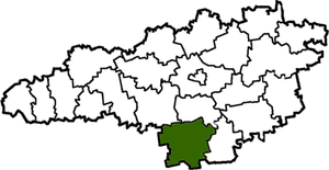 Raion location within Kirovohrad Oblast