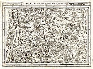 Kinzig (Rhine) - An old travel map of the upper Kinzig valley. C. 1716.