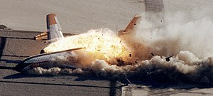 Aviation accidents and incidents - Controlled Impact Demonstration by NASA and the FAA.