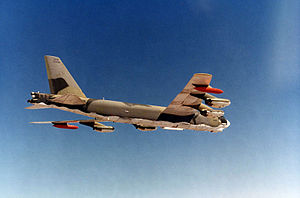 465th Bombardment Wing - Boeing B-52G-75-BW Stratofortress 57-6475 over the skies of Vietnam, 1968.
