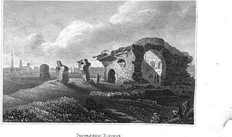 Bolghar - Hill fort before reconstruction (lithography of XIX)