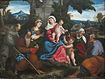 La Sainte Famille avec les saints François, Antoine, Madeleine, Jean Baptiste et Élisabeth
