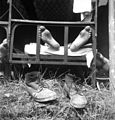Boots, iron bed, leg, illness, boots Fortepan 10856.jpg
