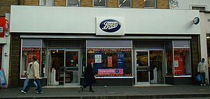 A branch of Boots in South London