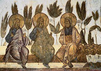 Andrei Rublev (film) - Fresco Bosom of Abraham by the historical Daniil Chyorny (c. 1360–1430)