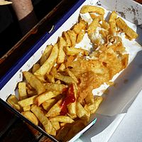 Box of fish and chips Margate Kent England.jpg