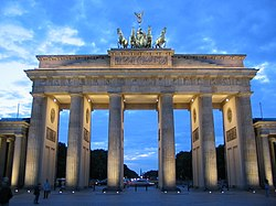 Brandenburg Gate, displays of Neoclassicism.