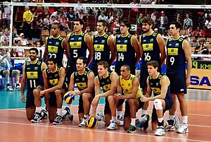Brazil men's national volleyball team - Image: Brazil national volleyball team 2012
