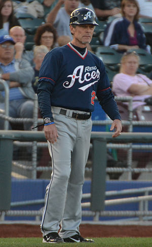 Brett Butler (baseball) - Image: Brett Butler on September 15, 2012