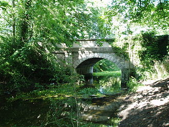 Sleaford Navigation - The road bridge just below Haverholme Lock