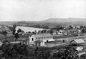 Brisbane Grammar School - First Brisbane Grammar School, Roma St, 1874 ca.1874