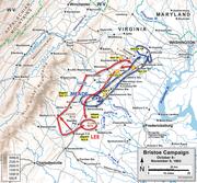 A map of the Bristoe Campaign
