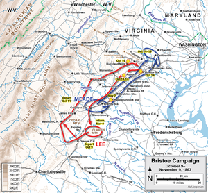 Battle of Bristoe Station - Image: Bristoe Campaign