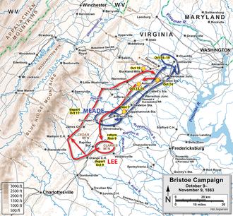 Battle of Bristoe Station - Image: Bristoe Campaign