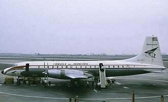 Cubana de Aviación - Image: Bristol Britannia 318 CU T670 Lima 04.72