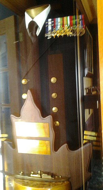 Thomas G. Fuller - Thomas G Fuller display case and trophy, Britannia Yacht Club, Commodore's Boardroom