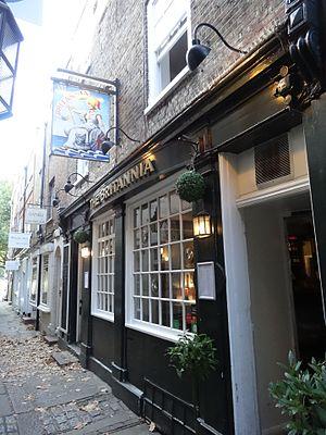 Britannia, Richmond - Image: Britannia pub, Brewers Lane, Richmond 01
