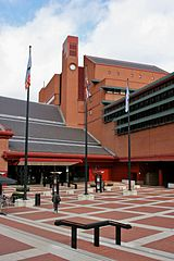One of the entrances to the British Library
