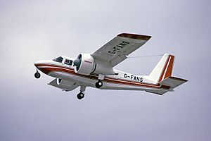 Britten-Norman BN-2 Islander - Islander equipped with ducted fans, 1978