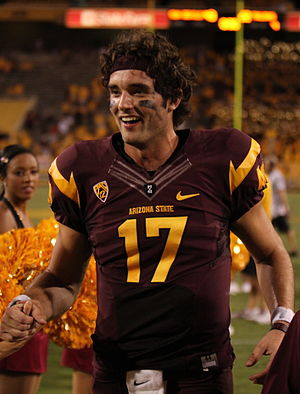 Arizona State Sun Devils football statistical leaders - Brock Osweiler set the Sun Devils' single-season passing yards record in 2011.