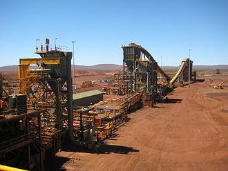 Brockman 4 mine - The plant at the mine.