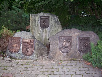 Brodnica - Crests based on partnership towns