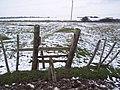 Broken Stile in Allhallows Marshes - geograph.org.uk - 1628437.jpg