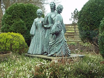 English: Bronte Sisters statue, Haworth Parson...
