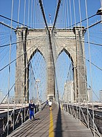 Brooklyn Bridge in New York City, 2002.jpg