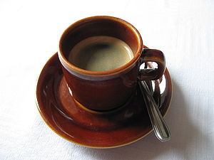 Brown cup of coffee