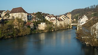 Brugg - The Old Town and Aare
