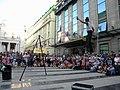 Bucuresti, Romania. Teatrul ODEON. (B-II-m-B-19854) B-FIT IN THE STREET 2018. Bubble Street Cirkus. Echilibristul si jongleorul Juriy Longhi. (3).jpg